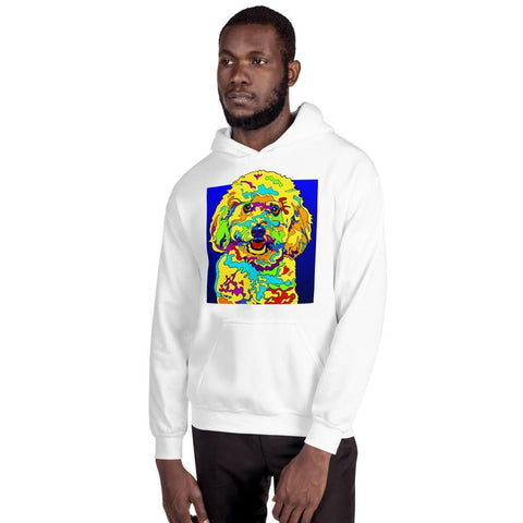 Bichon Men Hoodie - MULTI-COLOR DOG PRINTS