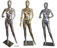 plastic chrome female mannequins