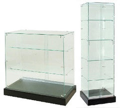 frameless glass display showcase