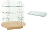 glass display and glass shelves