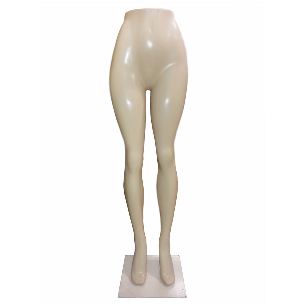 female leg mannequin with metal base