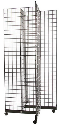 4 way gridwall display