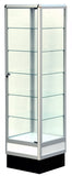 6' high aluminum tower display showcase,glass case