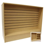 Cash Wrap Counter 48 Inch with Slatwall Front Maple