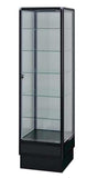 Display Cabinet With Glass Doors And Black Aluminum Frames - 72 x 20 x 20 - Inch