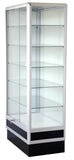 6' high aluminum tower display showcase,glass cases, display cabinet