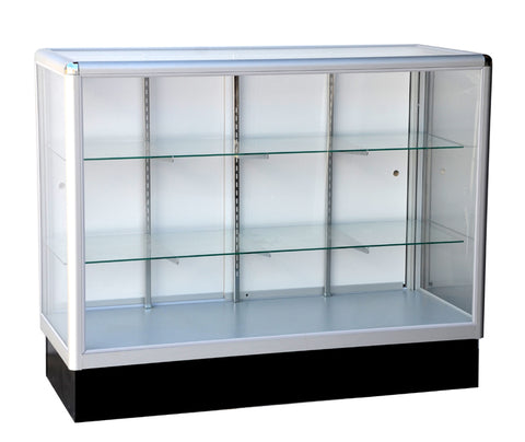 Glass Display Case  With  Tempered Glass And Aluminum Frame In Full Vision