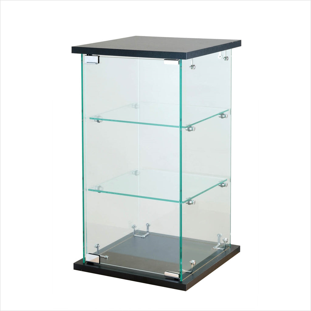 Frameless glass counter top display showcase - StoreFixtureShowcase.com