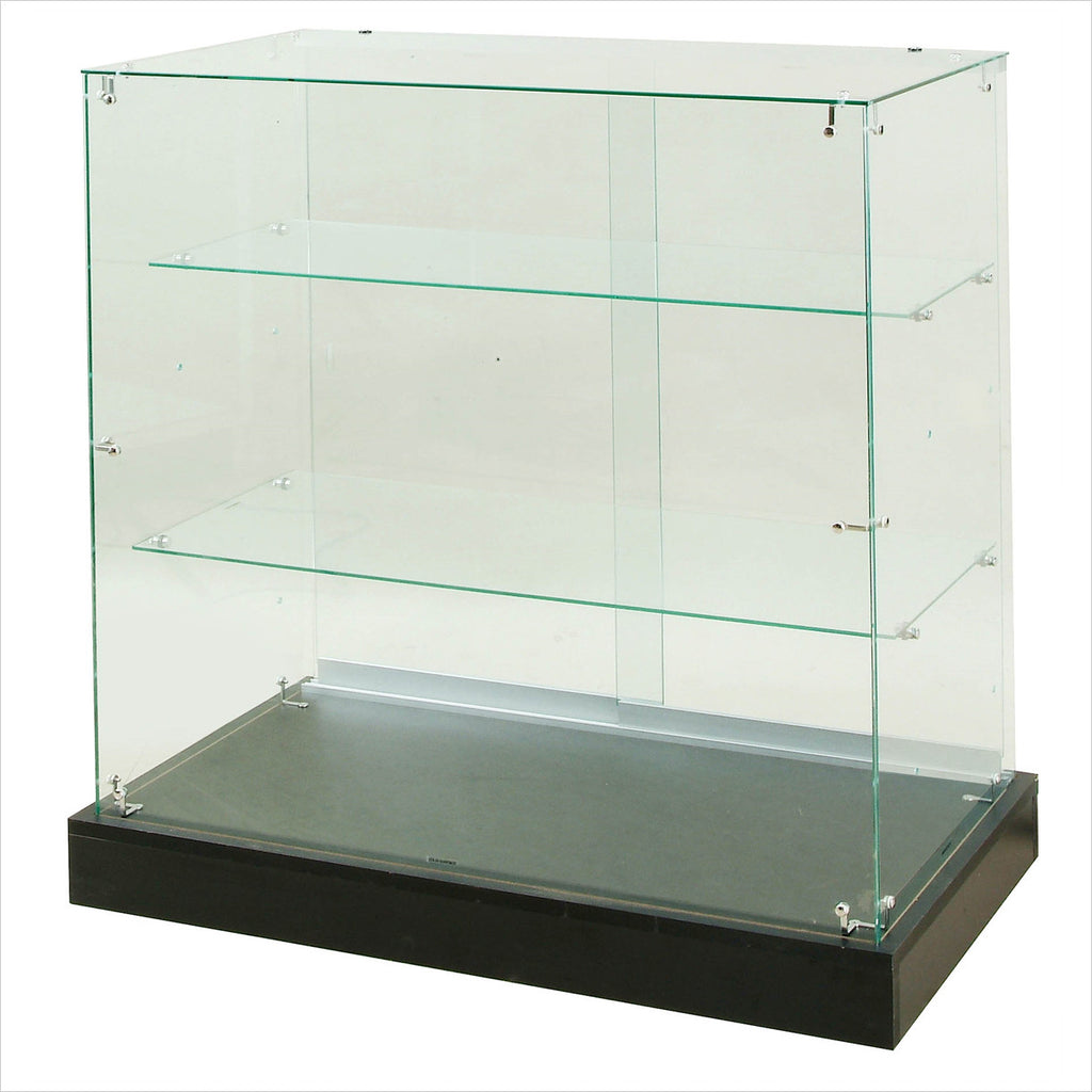 Frameless Rectangular Glass display Showcase cabinet - StoreFixtureShowcase.com