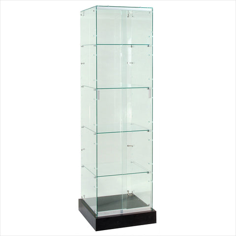 Frameless Tower display Showcase cabinet - StoreFixtureShowcase.com