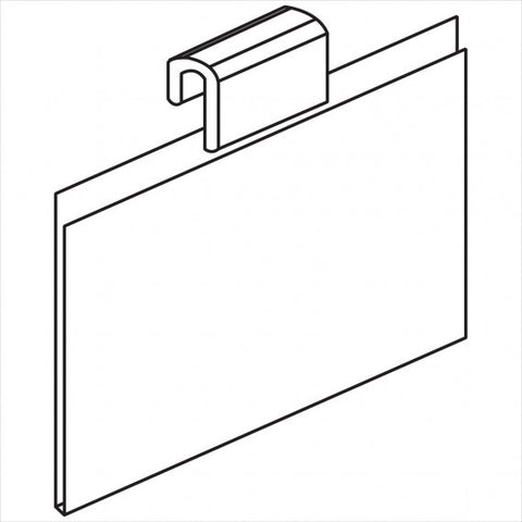 Gridwall Sign Holder Horizontal - StoreFixtureShowcase.com
