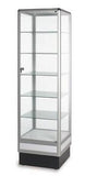 Glass Cabinet With Aluminum Frame - 72 x 20 x20 - Inch