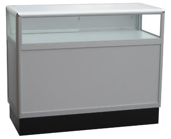 Glass Jewelry Display Case With Aluminum Frames - 70 x 38 x 20 - Inch