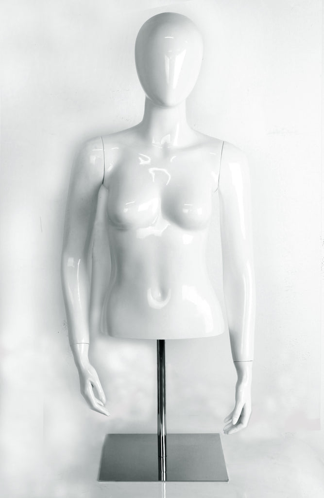 female glossy half mannequin