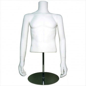 Male Half Mannequin with Should Cap - StoreFixtureShowcase.com
