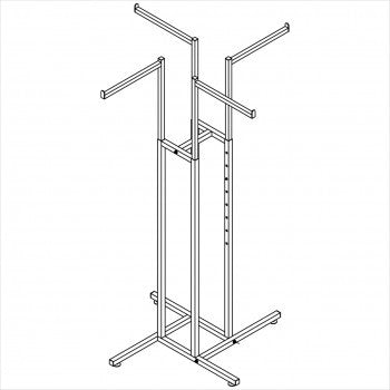 Square tube 4 way rack - StoreFixtureShowcase.com