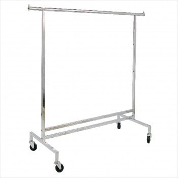 Single Hangrail Rolling Rack - StoreFixtureShowcase.com