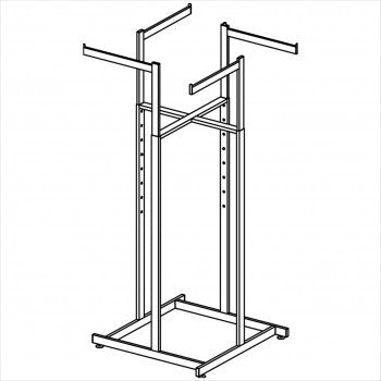 Straight Arm 4 way rack - StoreFixtureShowcase.com