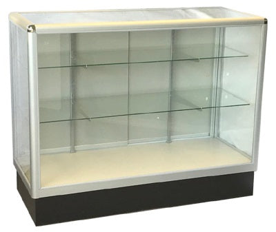 Retail Display Cases  With  Tempered Glass And Aluminum Frame In Full Vision - 60 x 38 x20 - Inch