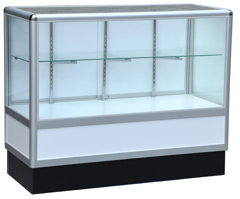 Commercial Display Cases With Aluminum Frames In Half Vision - 70 x 38 x20 - Inch