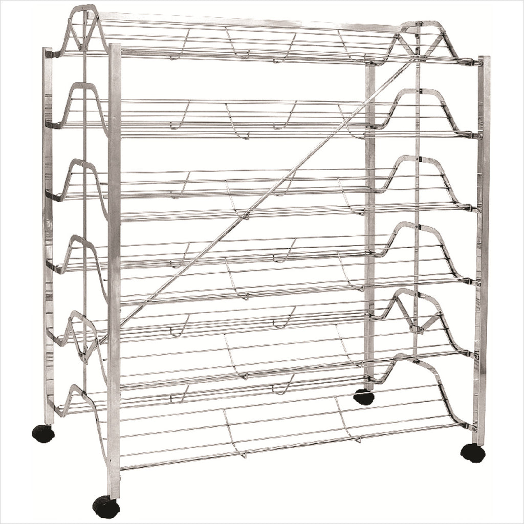 Folding shoe rack with 12 shelves