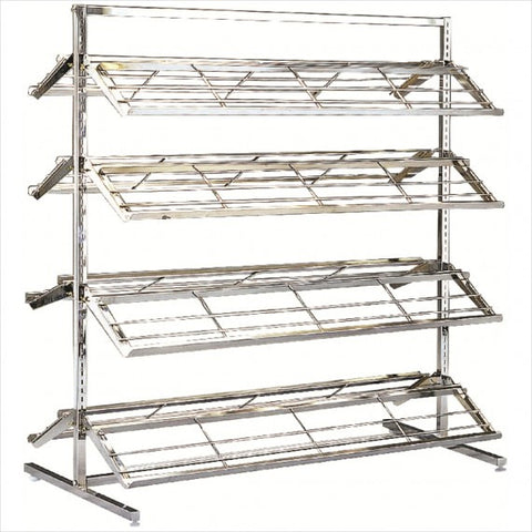 Double sided shoe rack