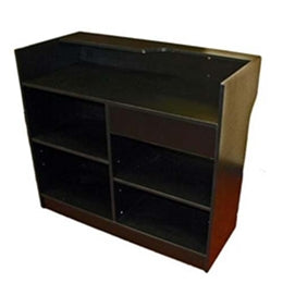 Sales Counter  72(L) x 22(W) x 42(H) - Inch Ledgetop Counter Black