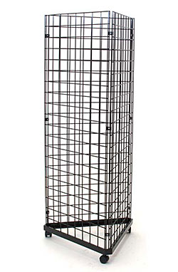 Triangle gridwall display, Gridwall mobile tower