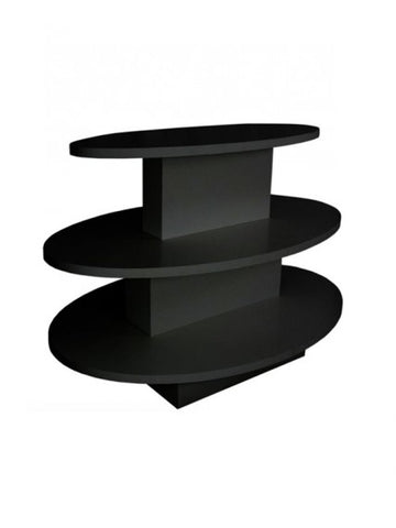 3 Tier oval table in black