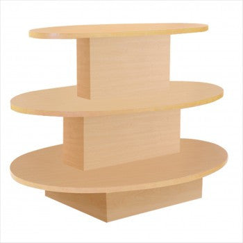 3 Tier Oval Table - StoreFixtureShowcase.com