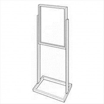 Bulletin Sign Holder with Tube Base - StoreFixtureShowcase.com