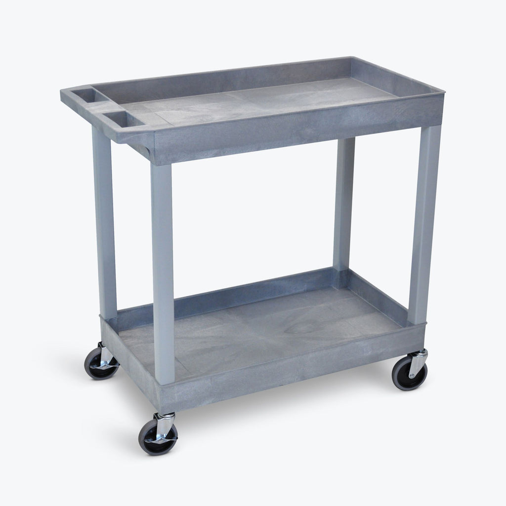 "32"" x 18"" Tub Cart with Two Shelves ---- EC11-G"