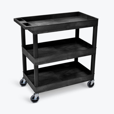 "32"" x 18"" Tub Cart with Three Shelves ---- EC111-B"