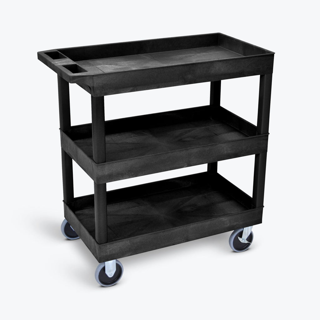 "32"" x 18"" Tub Cart with Three Shelves ---- EC111HD-B"