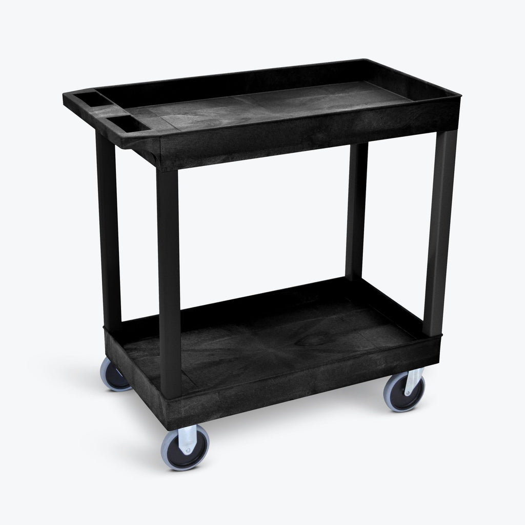 "32"" x 18"" Tub Cart with Two Shelves ---- EC11HD-B"