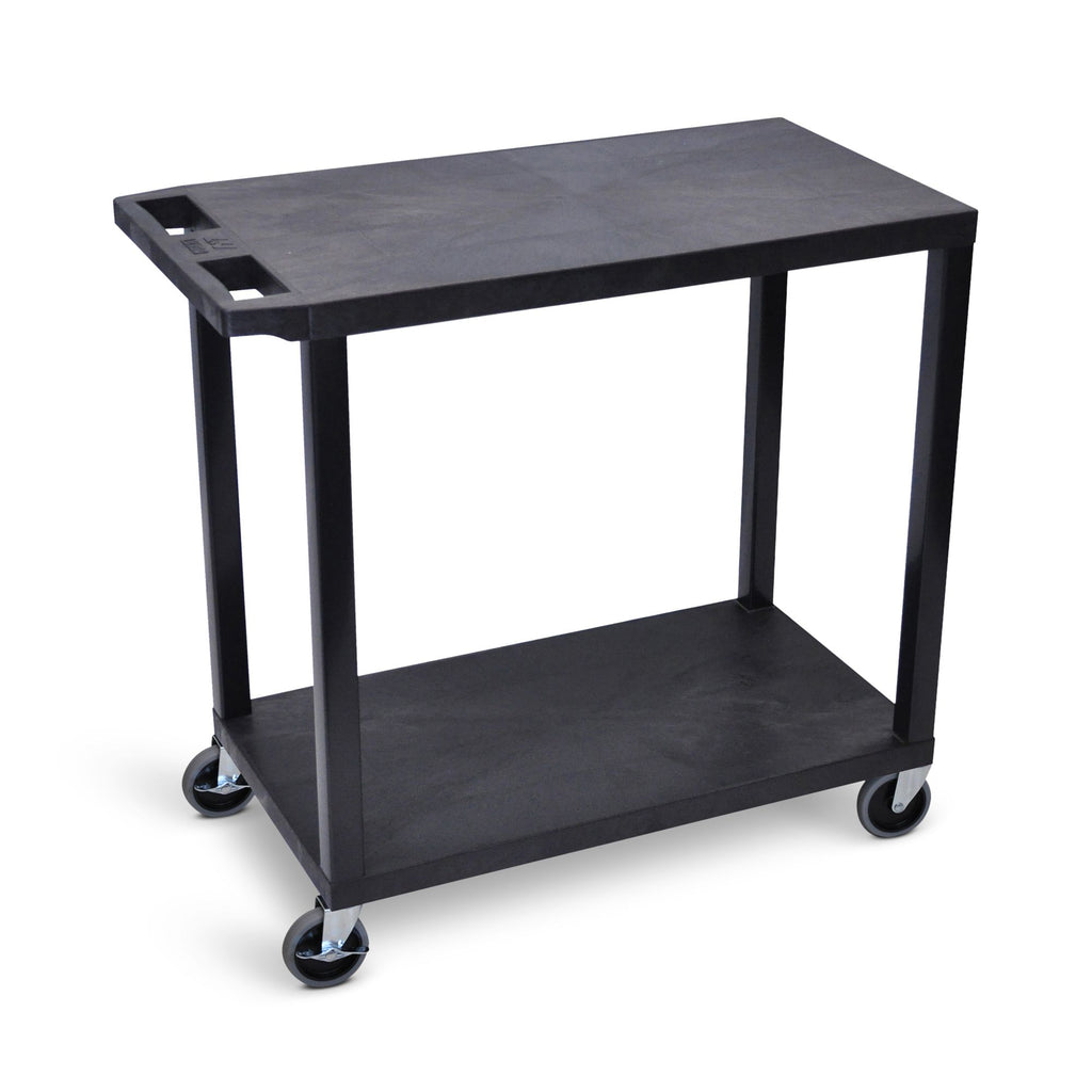 "32"" x 18"" Cart with Two Flat Shelves ---- EC22-B"