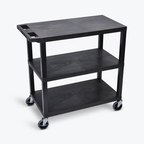 "32"" x 18"" Cart with Three Flat Shelves ---- EC222-B"