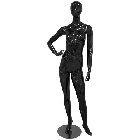 Female Fiber Glass Mannequin with Right Hand on Hip