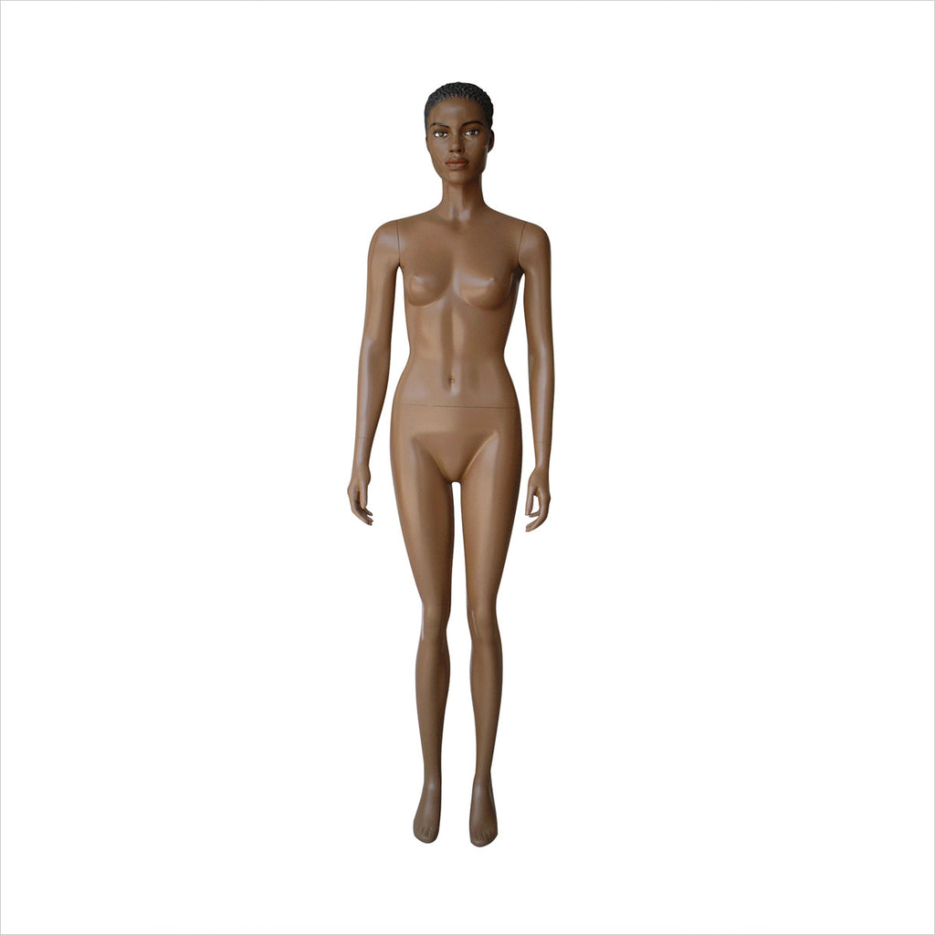 Female Mannequin  dark tonewith Arms  by Side