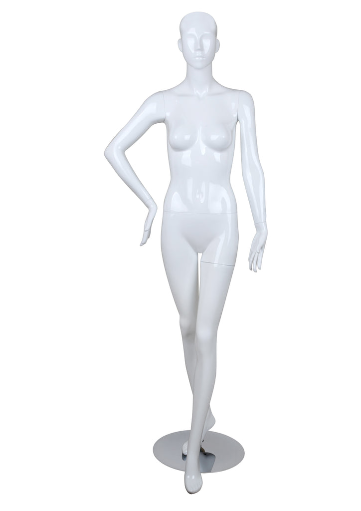 Female glossy mannequin,Right Arm on Hip