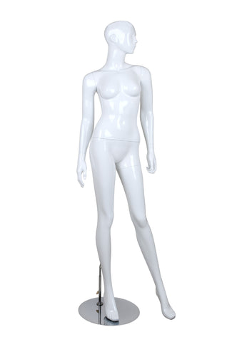 Female glossy mannequins,Arms to Side