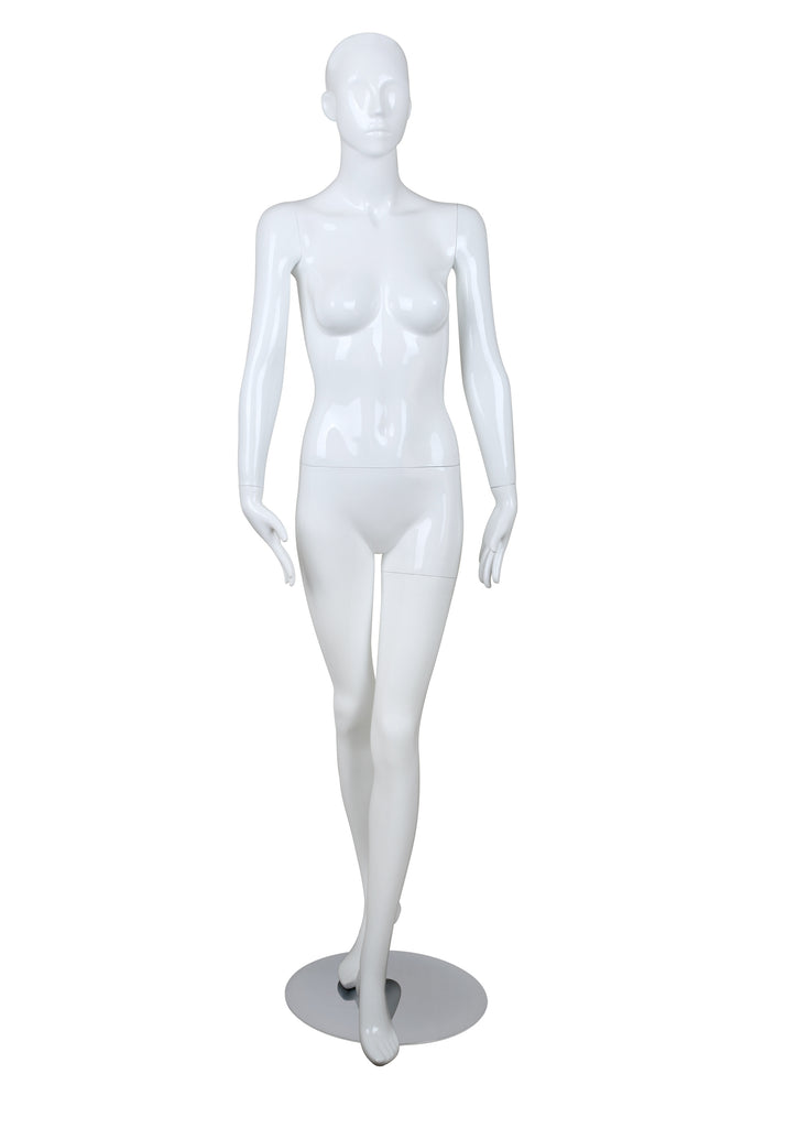 Female glossy mannequin,Left Leg in Front