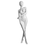 White realistic female mannequin with right leg crossed over - AO-ELIZABETH/4