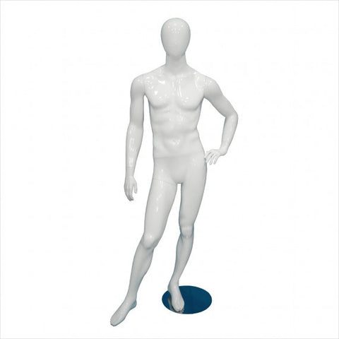 Male Fiber Glass  Mannequin with Right Leg Out - StoreFixtureShowcase.com - 1