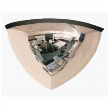 90 Degree Quarter Dome Security  Mirror - StoreFixtureShowcase.com