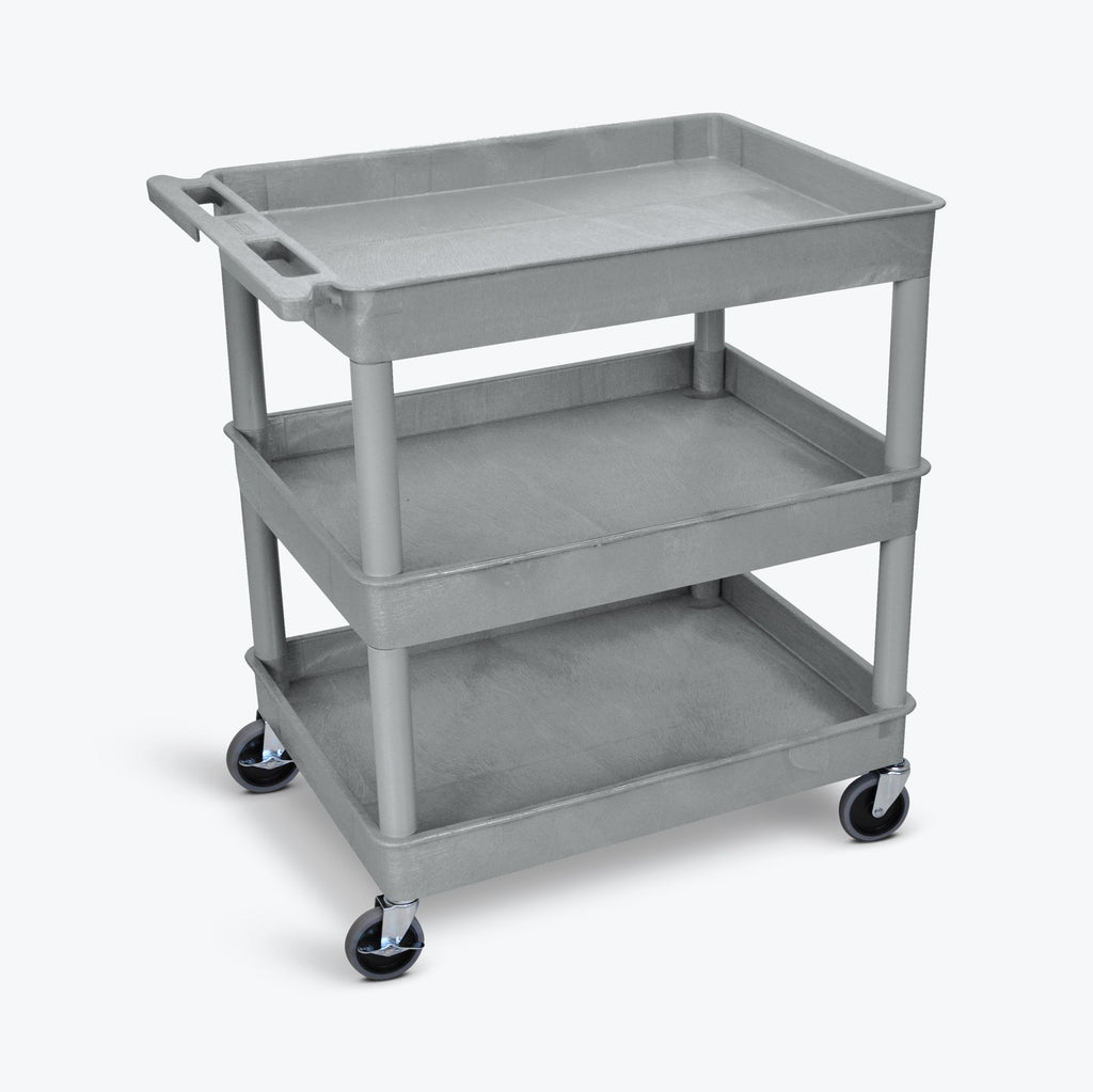 Large Tub Cart with Three Shelves ---- TC111-G