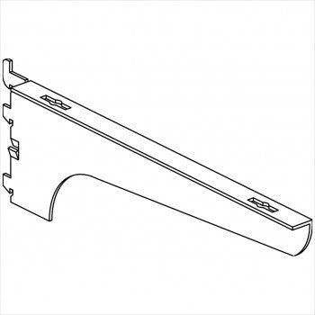 Wood Shelf Bracket - Right - StoreFixtureShowcase.com