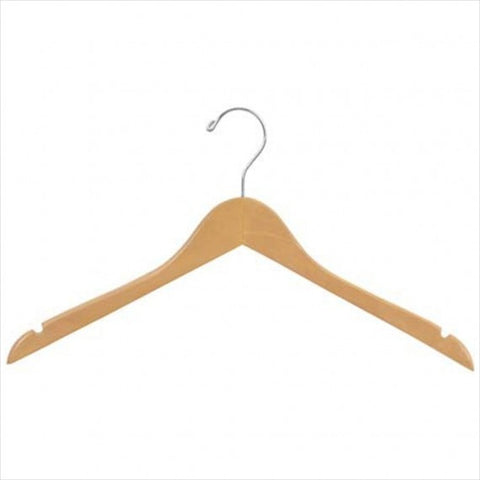 "17"" Wood Dress Hanger / 100 PCS - StoreFixtureShowcase.com"