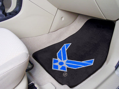 Fanmat Air Force Carpeted Car Mats-Pair