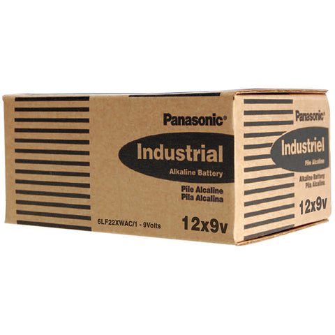 "Panasonic Alkaline ""9V"" Cell w/Shrink 12 piece box of batteries"